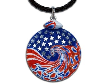 Independence Day 4th of July United States United States Flag USA USA Flag US Flag American Red White and Blue American Flag Star pendant