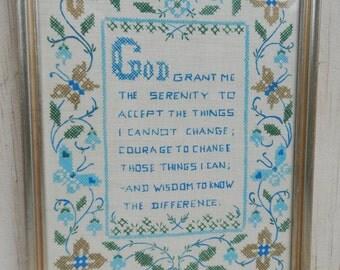 Hand Painted Folk Art Serentiy Prayer!