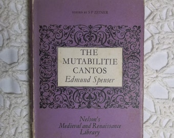Spenser's Mutabilitie Cantos