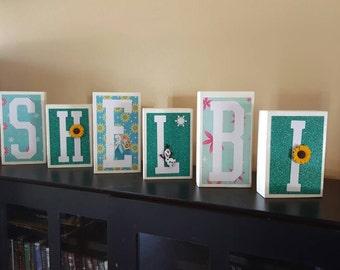 Frozen Letter Blocks