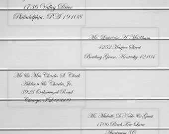 Custom Wedding Address Labels, To: Wedding Address labels, Clear Transparent Address Stickers, Calligraphy Replacement (#316MT-C)