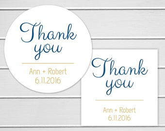 Thank You Stickers, Wedding Thank You Sticker, Wedding Stickers, Wedding labels (#003)