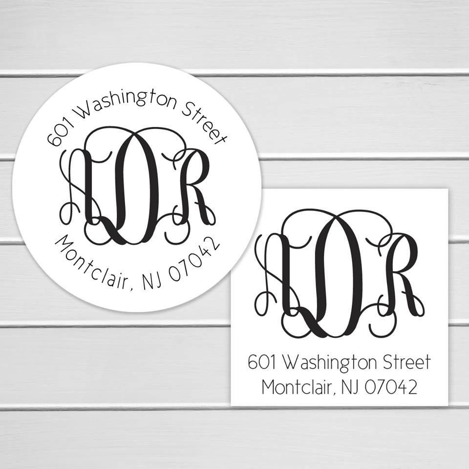 Diamond Wedding Invitation Label: Wedding Invitation Return Address Label Wedding Invitation