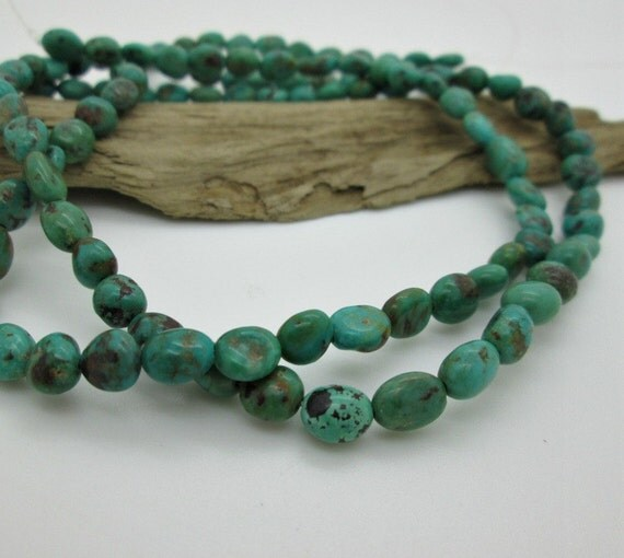 Turquoise Blue Green Nugget Bead Chinese Turquoise Potato
