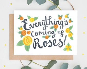 Roses Congratulations Card