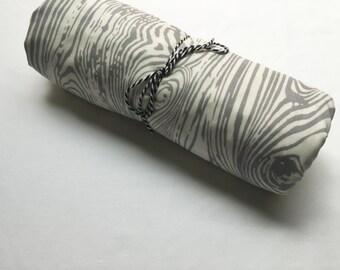Baby Blanket - Woodgrain Baby Blanket - Gray and Ivory Woodgrain Minky Baby Blanket -Gender Neutral Blanket -Handmade Baby Blanket