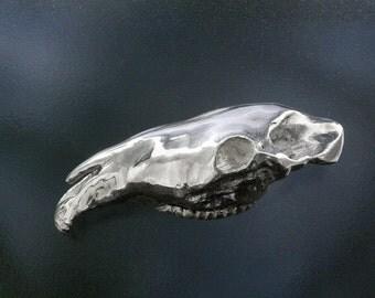 silver horse skull pendant
