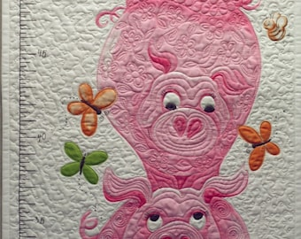 Quilted baby panel