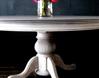 Driftwood finish dining table!!