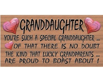 Granddaughter Sign - GS 73 - Granddaughter plaque