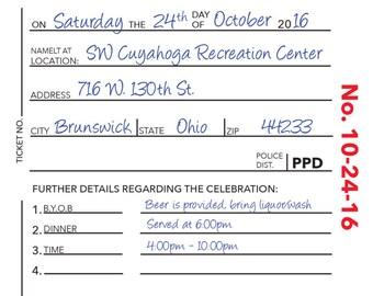 Police Retirement/Graduation/Birthday Invitation