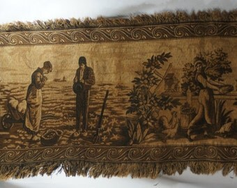 Antique Tapestry Long and Beautiful