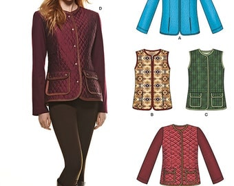 New Look Pattern 6308 Misses Jackets or Vests