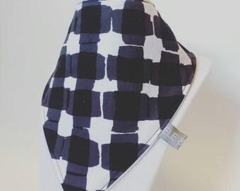 black & white squares / bibs / baby bib / drool bib / bibdana / ready to ship