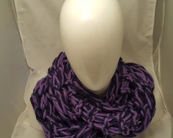 Purple and Dark Blue Infinity Scarf