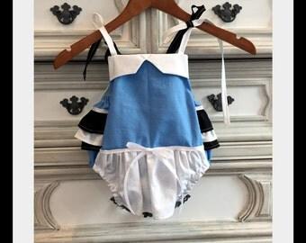 Alice in Wonderland Inspired Romper, Alice in Wonderland Party, Mad Hatter, Mad Hatter Costume, Queen of Hearts Romper, Queen of Hearts