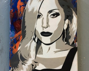 Lady Gaga - Ready to Hang Art on Stretched Canvas