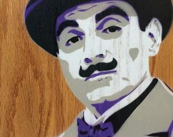 Poirot Painting on Oak Wood Panel