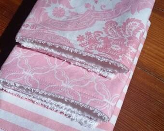 Baby Burp Cloths Set of 3, Burp Rags, Burp Cloths, Baby, Pink Damask Burp Cloths, Girl Burp Rags, Baby Girl, Baby Shower Gifts, Damask