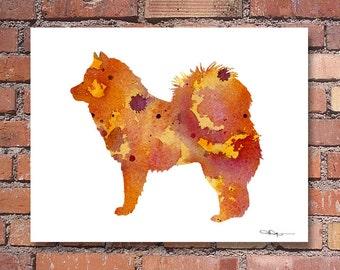 Eurasier Art Print - Abstract Watercolor Painting - Dog  - Wall Decor