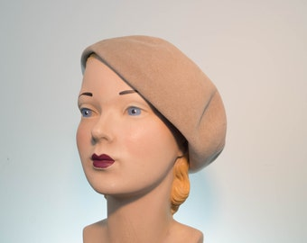 Bonnie & Clyde Angora Borsalino Slouch Beret - 1970s does 1930s
