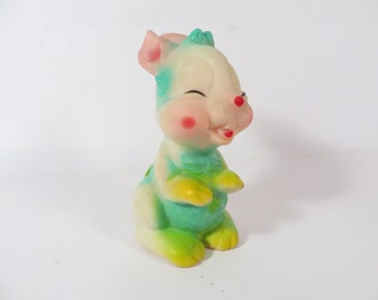 Mid Century Easter Bunny Rubber Squeaky Toy - Rubber Bunny Rabbit