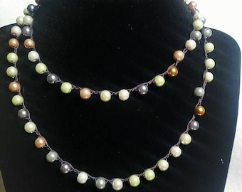 Pearl Necklace, Crochet