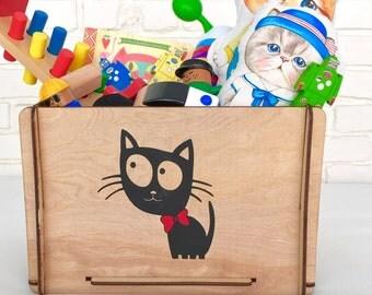 Cute Kitty Toy Storage Box