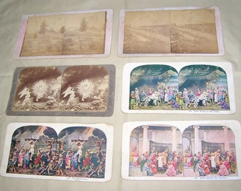 Six Stereoscope Viewing Cards