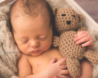 Bear Stuffie, Photography Prop, Newborn Photography Prop, Mini Bear Photography Prop