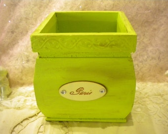 """Shabby Chic French Country Wood """"Catch-All""""  Box"""