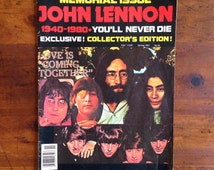 Vintage 1981 John Lennon Memorial Issue Magazine