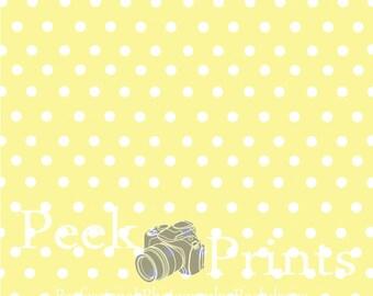 5ft.x5ft. Yellow & White PolkaDot Vinyl Photography Backdrop