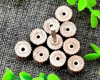 10 PCS/Set 240 400 600 Grit 10 x 10x 3mm Flap Wheels Sanding Brush Grinding Flap Wheels Brush Sanding Rotary Tool Dremel Accessories