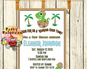 Printable Dinosaur Baby Shower Invitation
