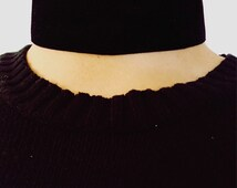 Thick Velvet Black Choker Necklace || The Morticia Choker