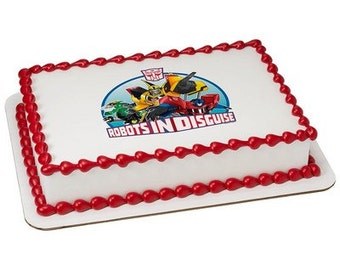 Transformers Edible Cake or Cupcake Toppers - Choose Your Size