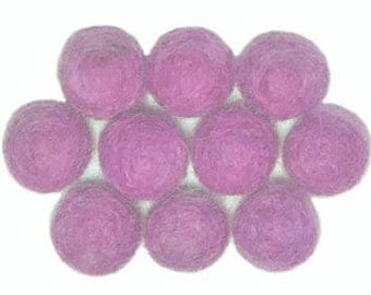 15mm Wool Felt Bead - pack of 10 - ORCHID
