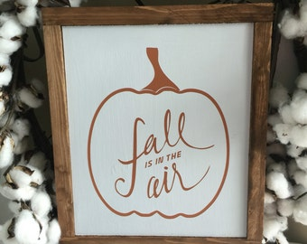 Fall woof framed sign