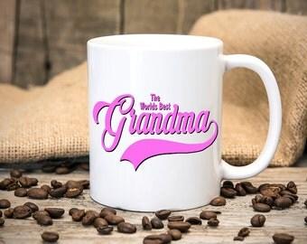 The Worlds Best Grandma Mug - Gift Mugs - New Grandparents - Christmas Gift - Coffee Cup - Tea Cup - Mug