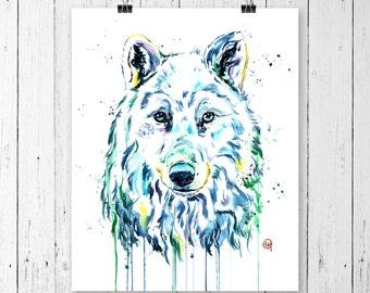 WOLF 3 PRINT Wolf Art, Wolf Watercolour, Wolf painting, wildlife art, wildlife painting, watercolour print, modern watercolour, northern art