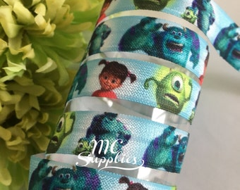 FOE Elastic,monster's-Inc elastic,elastic,headband supplies,elastic for hair ties,foe elastic,elastic by the yard,fold over elastic,137