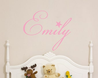 Custom Childrens Wall Decal - Girls Name Wall Decal - Nursery Wall Decal - Personalized Name Decal - Vinyl Wall Decal -Bedroom Nursery Decor