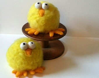 Felted, Weighted Chicks, Free Shipping, Novelty Bookend, Doorstop, Paperweight, Decoration