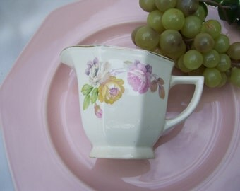 Victoria Dinnerware,Rambling Rose, 22K Gold,Creamer