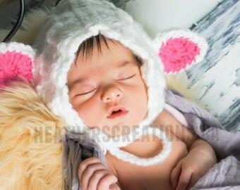 Newborn Lamb Bonnet, Photoprop