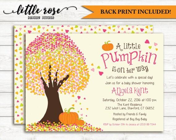 little pumpkin baby shower invitations fall baby shower invite