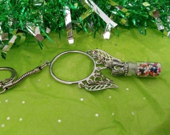 Candy Sprinkles Stainless Steel Keychain