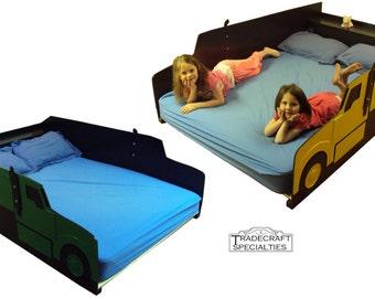 baseball themed kids full size bed frame by tradecraftspec. Black Bedroom Furniture Sets. Home Design Ideas