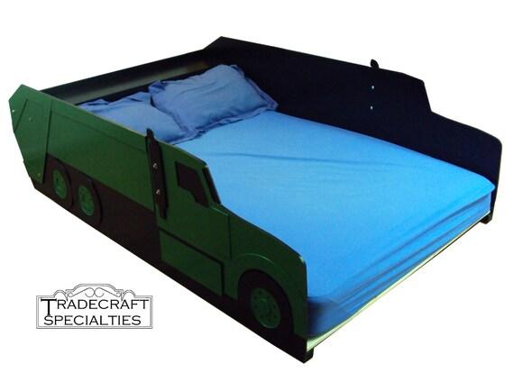 garbage truck full kids bed frame handcrafted by tradecraftspec. Black Bedroom Furniture Sets. Home Design Ideas
